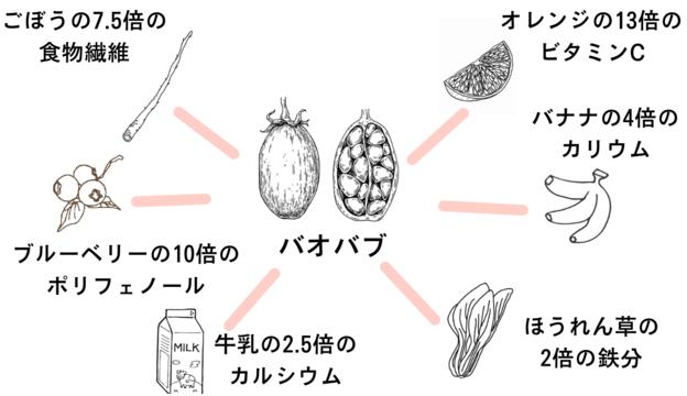 バオバブの栄養素画像