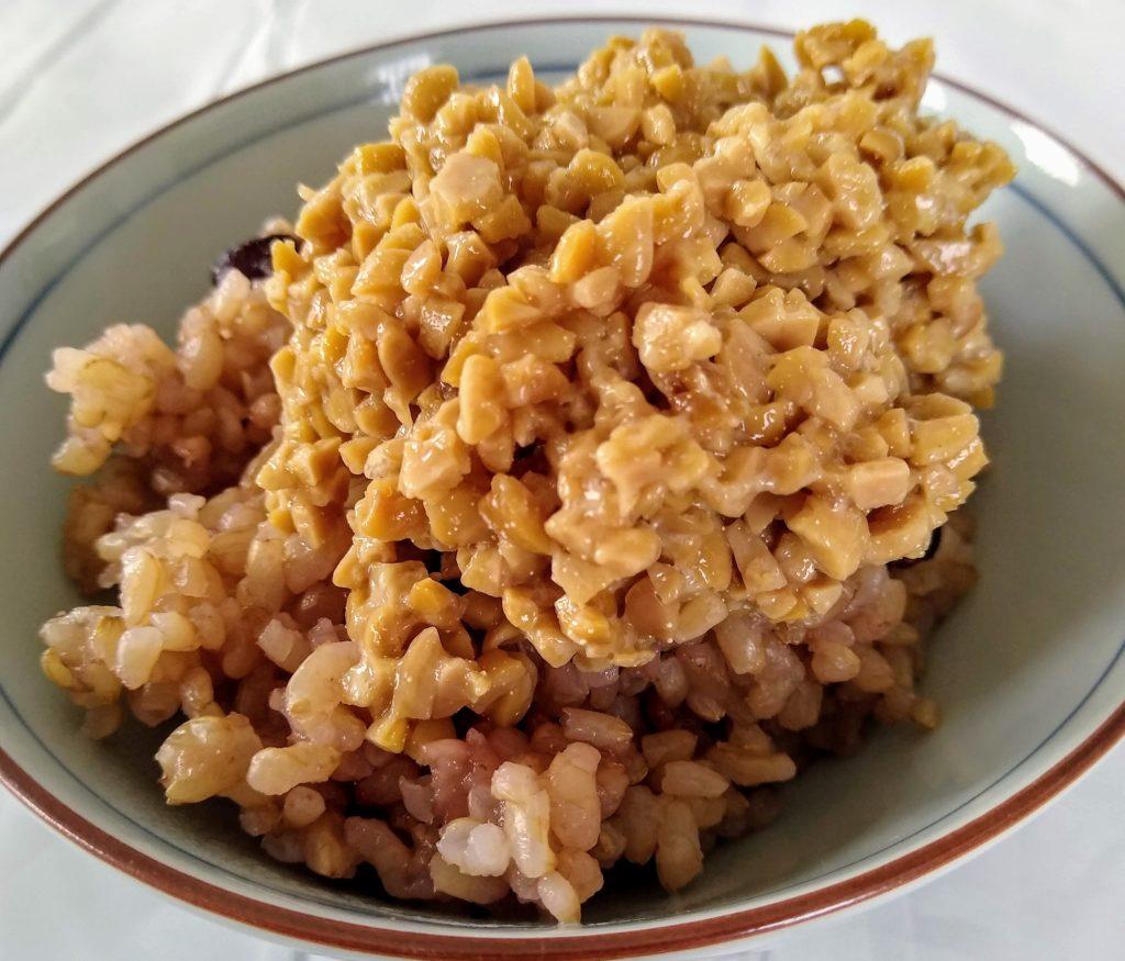 玄米納豆ごはん